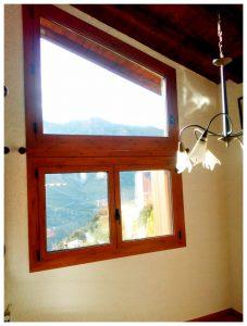 Finestres amb pont tèrmic Finestres d'alumini més fusta Finestres de PVC